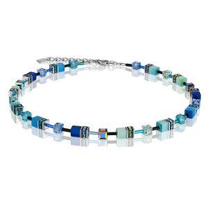 Coeur De Lion Blue Green GEOCUBE Necklace