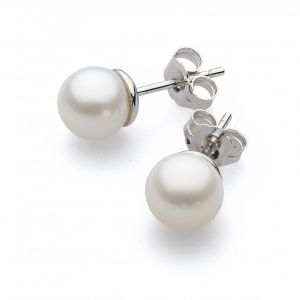 Kit Heath Desire Lustrous Freshwater 7mm Pearl Stud Earrings