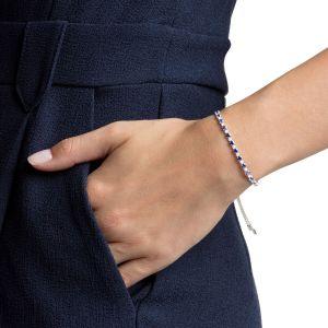Swarovski Subtle Bracelet, Blue, Rhodium Plating