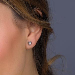 Kit Heath Miniature Sweet Heart Silver Stud Earrings 40032HP021