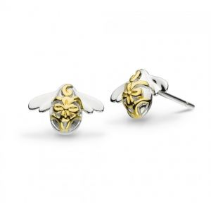 Kit Heath Blossom Bumblebee Gold Plated Stud Earrings 40339GD020
