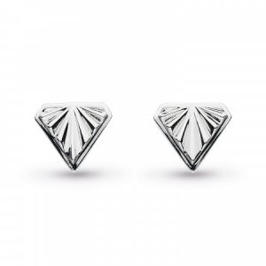 Kit Heath Empire Deco Diamond Shape Stud Earrings