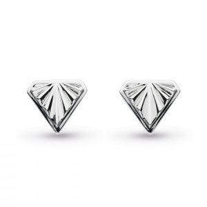 Kit Heath Empire Deco Diamond Shape Stud Earrings