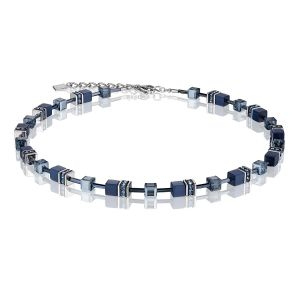 Coeur De Lion Navy Blue GEOCUBE Necklace