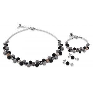 Coeur De Lion Onyx and Crystal Pavé Stud Earrings