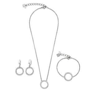 Coeur De Lion Silver Crystal Necklace