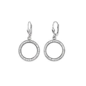 Coeur De Lion Silver Crystal Pierced Earrings
