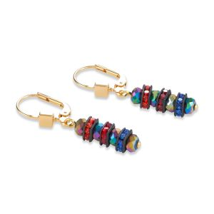 Coeur De Lion Multicolour Gold Pierced Earrings