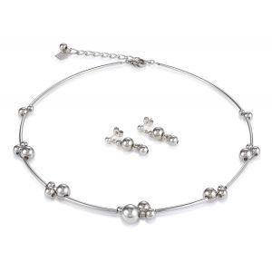 Coeur De Lion Silver Pierced Stud Drop Earrings