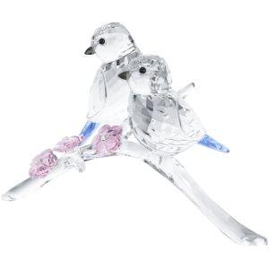 Swarovski Crystal Blue Tits Bird Couple