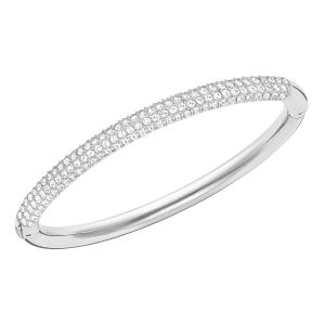 Swarovski_Stone_Bangle_Rhodium