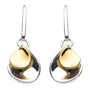 Kit Heath Enchanted Double Petal Gold Plate Drop Earrings