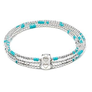 Annie Haak Boho Turquoise Silver Looped Bracelet