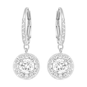 Swarovski Attract Light Pierced Earrings, White, Rhodium Plating