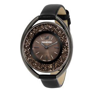 Swarovski_Crystalline_Oval_All_Black_Leather_Watch