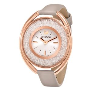 Swarovski_Crystalline_Oval_Rose_&_Grey_Leather_Watch