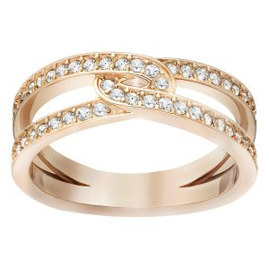 Swarovski Creativity Ring, White, Rose Gold Plating