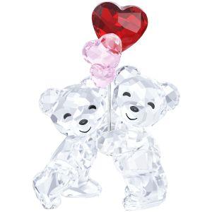 Swarovski Crystal Kris Bear 'Heart Balloons'