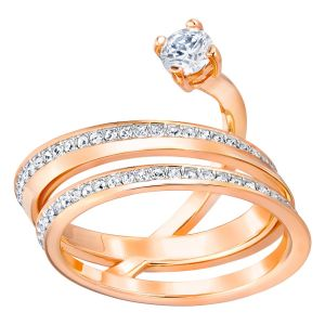 Swarovski Fresh Ring, Large, Rose Gold Plating