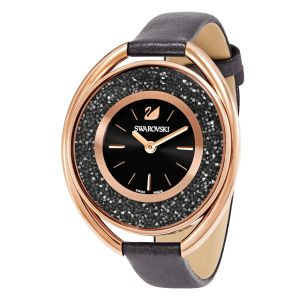 Swarovski_Crystalline_Oval_Black_&_Rose_Leather_Watch