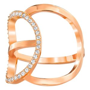 Swarovski Flash Ring, White, Rose Gold Plating