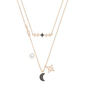Glowing Moon Necklace Set, Multi-coloured, Mixed Plating