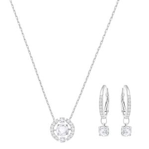 Swarovski_Sparkling_Dance_Circle_Necklace_And_Earring_Set