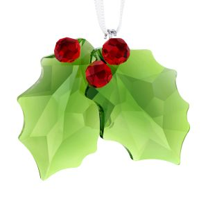 Swarovski Crystal Holly Ornament