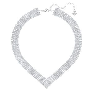 Fit Necklace, White, Palladium plating