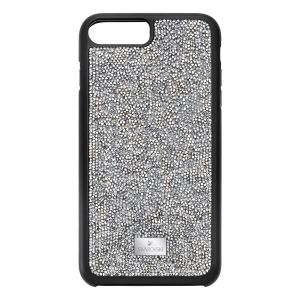 Swarovski Glam Rock Smartphone Case with Bumper, iPhone® 8 Plus, Grey