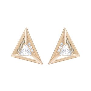Swarovski Hillock Triangle Pierced Earrings, Rose Gold