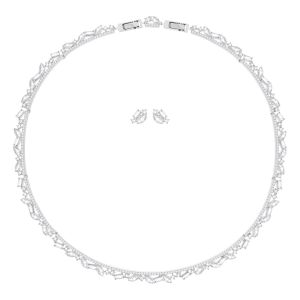 Swarovski Henrietta Set, Large, White, Rhodium Plating