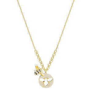 Swarovski Lisabel Necklace, Small, White, Gold plating