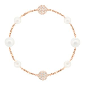 Swarovski Remix Collection Mixed White Crystal Pearl, Rose gold plating