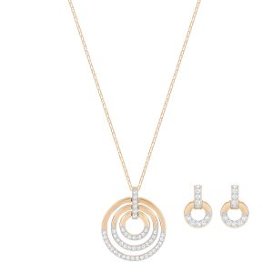 Swarovski Circle Set, Rose Gold