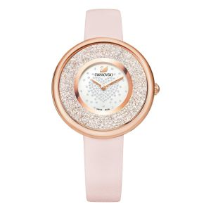 Swarovski Crystalline Pure Watch, Leather Strap, Pink, Rose Gold Tone