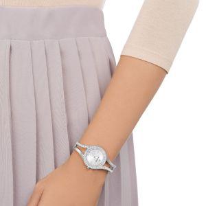 Swarovski Eternal Watch, Metal Bracelet, White, Silver Tone