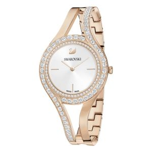 Swarovski Eternal Watch, Metal Bracelet, White, Champagne Gold Tone