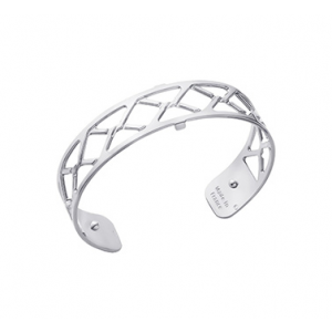 Les Georgettes Cannage 14mm Silver Finish Bangle