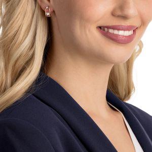 Swarovski North Pierced Earrings, White, Rose Gold Plating