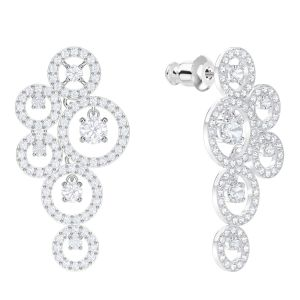 Swarovski Creativity Pierced Earrings, White, Rhodium Plating