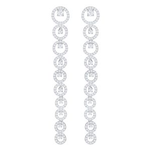 Swarovski Creativity Pierced Earrings in White, Rhodium Plating