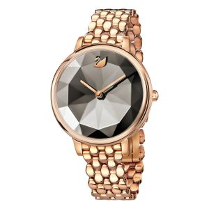 Swarovski Crystal Lake Watch, Metal Bracelet, Grey, Rose Gold Tone