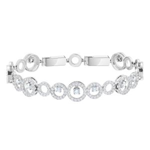 Swarovski Creativity Bracelet, White, Rhodium Plated