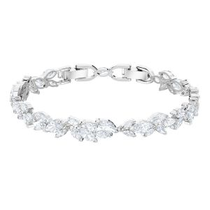 Swarovski Louison Crystal Bracelet, White, Rhodium Plating