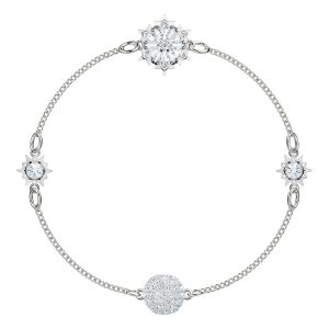 Swarovski Remix Collection Snowflake, White, Rhodium plating
