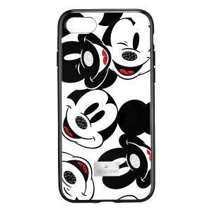 Swarovski Mickey Face Smartphone Case with integrated Bumper, iPhone® X, Black