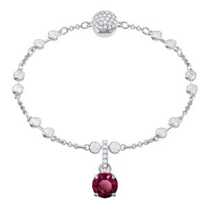 Swarovski Remix Collection Charm, July, Dark red, Rhodium plating