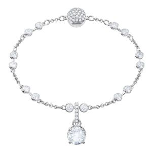 Swarovski Remix Collection Charm, April, White, Rhodium plating