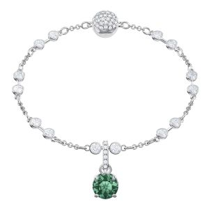 Swarovski Remix Collection Charm, May, Green, Rhodium plating